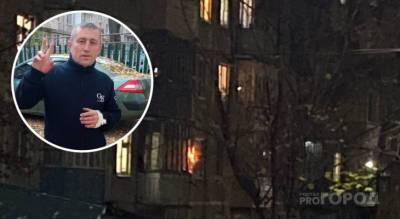 """В Чебоксарах случайный прохожий взобрался по стене дома и потушил загоревшийся балкон: """"Я думал, в квартире дети"""""""