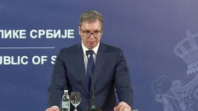 Президент Сербии Александр Вучич поблагодарил Россию за помощь в борьбе с пандемией
