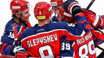 ЦСКА нанёс «Спартаку» третье поражение подряд в регулярном чемпионате КХЛ