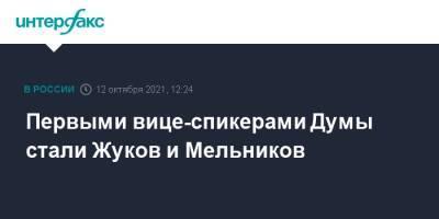 Первыми вице-спикерами Думы стали Жуков и Мельников