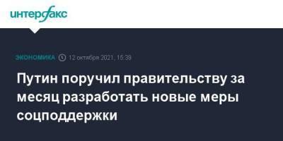 Путин поручил правительству за месяц разработать новые меры соцподдержки