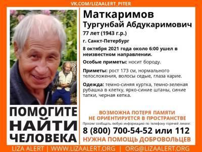 «ЛизаАлерт» просит помощи в поисках 77-летнего петербуржца