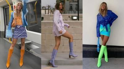 Яркие сапоги и ботинки добавят красок в повседневные образы