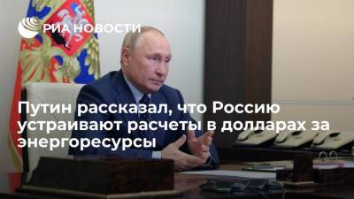 Президент Путин заявил, что Россия не собирается полностью уходить от расчетов в долларах