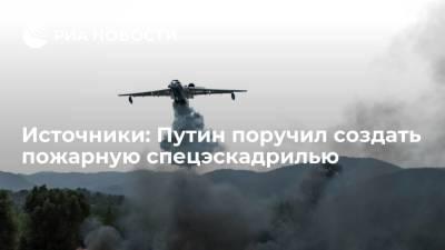 Источники: Путин поручил создать пожарную спецэскадрилью из 22 самолетов и вертолетов