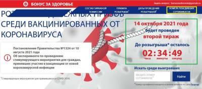 Розыгрыш бонусзаздоровье рф 14 октября 2021 года: как выиграть 100 тысяч рублей за прививку от ковида
