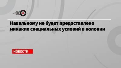Навальному не будет предоставлено никаких специальных условий в колонии