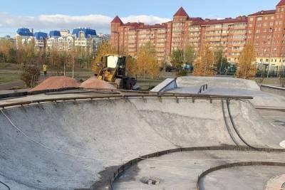 Сергей Еремин проверил строительство скейт-парка в Советском районе Красноярска