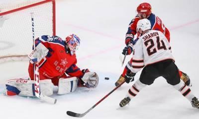 ЦСКА дома обыграл «Адмирал» в матче регулярного чемпионата КХЛ