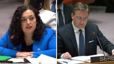 «Президент» Косово разразилась в ООН обвинениями в адрес Сербии и...