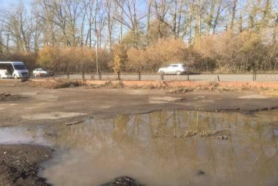 Жители окраины Омска пока не дождались обещанного обустройства остановки «Сады»