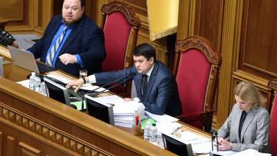 Зеленский назвал причину рассмотрения отставки спикера рады Разумкова
