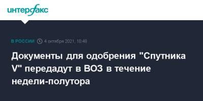 """Документы для одобрения """"Спутника V"""" передадут в ВОЗ в течение недели-полутора"""