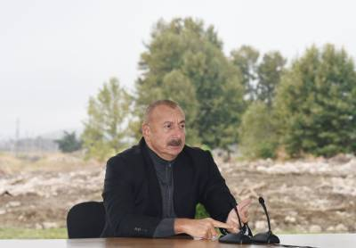 """Президент Ильхам Алиев: Наше """"Большое возвращение"""" началось с Джебраила"""