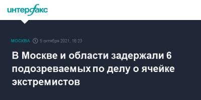 В Москве и области задержали 6 подозреваемых по делу о ячейке экстремистов