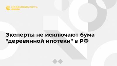 """Эксперты не исключают бума """"деревянной ипотеки"""" в РФ"""