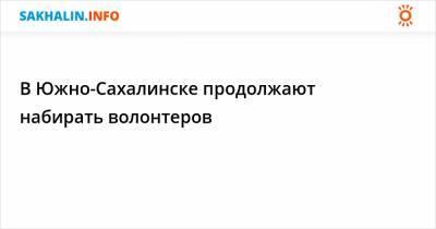 В Южно-Сахалинске продолжают набирать волонтеров