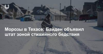 Морозы в Техасе: Байден объявил штат зоной стихийного бедствия