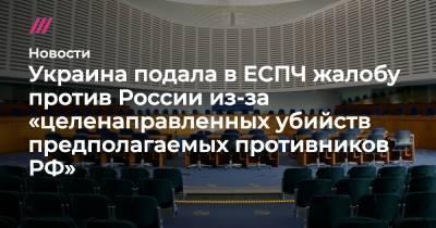 Украина подала в ЕСПЧ жалобу против России из-за «целенаправленных убийств предполагаемых противников РФ»