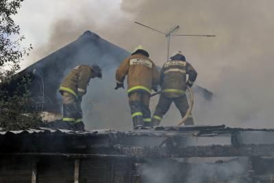 Вечерний пожар в Смоленской области унес жизнь женщины
