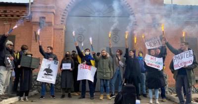 В Одессе акция в поддержку Стерненко собралась под СИЗО, где находится активист (4 фото)