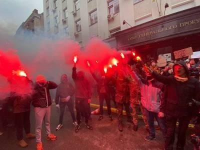 Националисты устроили митинг возле офиса Зеленского