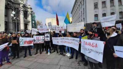 Протесты в поддержку Стерненко продолжаются в городах Украины