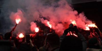 «Нас не запугать». Как в Киеве прошла акция протеста в поддержку Стерненко — фоторепортаж