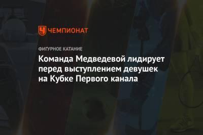 Команда Медведевой лидирует перед выступлением девушек на Кубке Первого канала