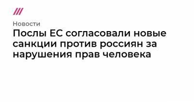 Послы ЕС согласовали новые санкции против россиян за нарушения прав человека
