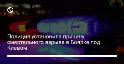 Полиция установила причину смертельного взрыва в Боярке под Киевом