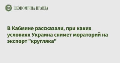 """В Кабмине рассказали, при каких условиях Украина снимет мораторий на экспорт """"кругляка"""""""