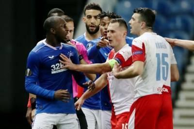 Тренер «Рейнджерс» обвинил игрока «Славии» в расизме