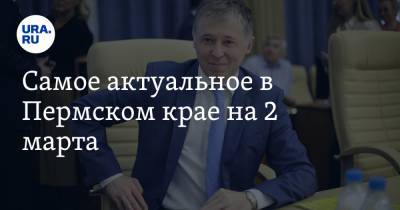 Самое актуальное в Пермском крае на 2 марта. Два экс-министра претендуют на пост главы района, названа стоимость кампании в Пермскую гордуму