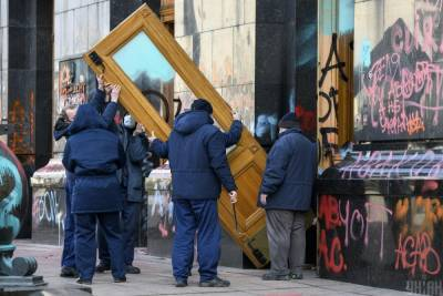 В Сети показали Офис президента после беспорядков