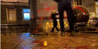 МВД готовит ряд подозрений за провокации во время протеста у Офиса президента