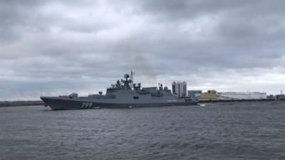 Экипажи фрегатов ЧФ РФ отразили атаку кораблей условного противника в ходе учений