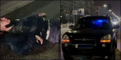 Ходил кричал, что хочет умереть - В Киеве на проспекте Победы пьяный парень бросался под колеса авто, видео - ТЕЛЕГРАФ