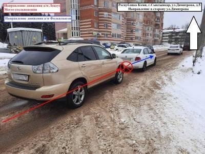"""В Сыктывкаре злостный нарушитель на Lexus RX """"догнал"""" Volkswagen Polo"""