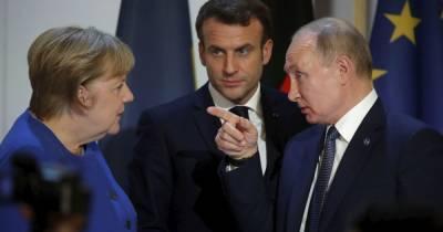 У Путина заявили, что на переговорах о Донбассе с Меркель и Макрона просто обменяются мнениями по ситуации