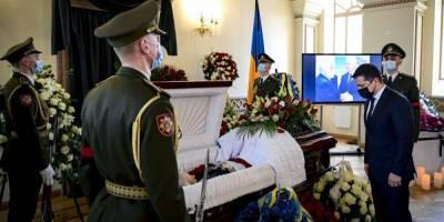 В Киеве прошла церемония прощания с первым министром иностранных дел Украины Анатолием Зленко