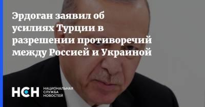 Эрдоган заявил об усилиях Турции в разрешении противоречий между Россией и Украиной