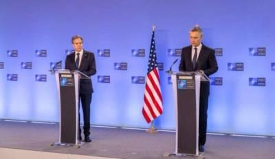 Генсек НАТО и госсекретарь США выразили единую позицию о неприемлемости наращивания войск РФ у границ с Украиной