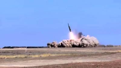 """В Баку показали, как израильский """"Барак-8"""" сбивает российский """"Искандер"""" над Карабахом"""