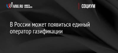 В России может появиться единый оператор газификации
