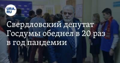 Свердловский депутат Госдумы обеднел в 20 раз в год пандемии