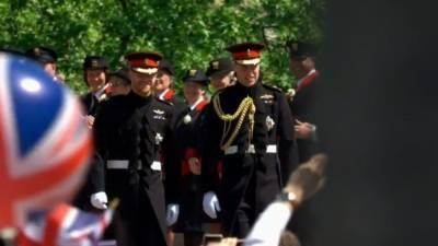 Принцев Гарри и Уильяма заметили вдвоем после церемонии прощания с Филиппом