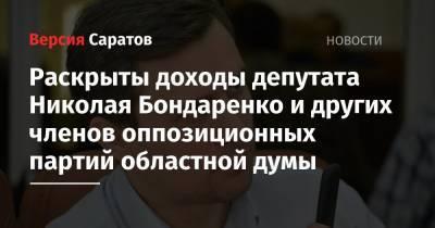 Раскрыты доходы депутата Николая Бондаренко и других членов оппозиционных партий областной думы