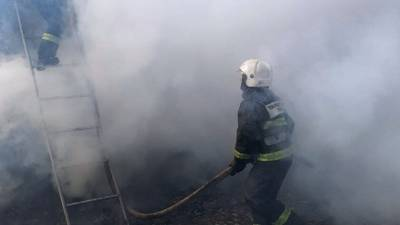 Танк загорелся в одной из воинских частей Дагестана