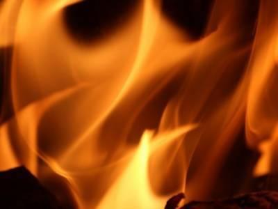 В Дагестане в воинской части загорелся танк